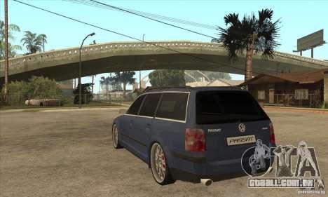 Volkswagen Passat B5.5 2.5TDI 4MOTION para GTA San Andreas traseira esquerda vista