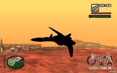 Y-f19 macross Fighter para GTA San Andreas traseira esquerda vista