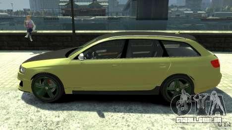 Audi RS6 Avant 2010 Carbon Edition para GTA 4 esquerda vista