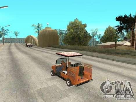 Golfcart caddy para GTA San Andreas esquerda vista