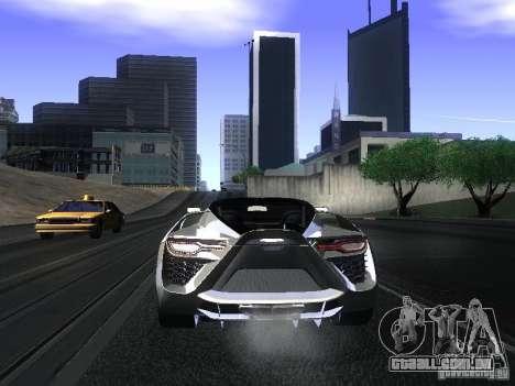 Bertone Mantide para GTA San Andreas vista traseira