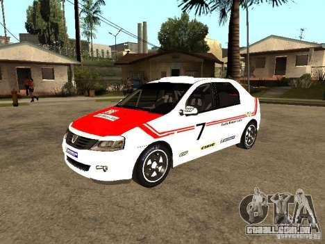 Dacia Logan Rally Dirt para GTA San Andreas vista superior
