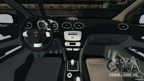 Ford Focus RS para GTA 4 vista de volta