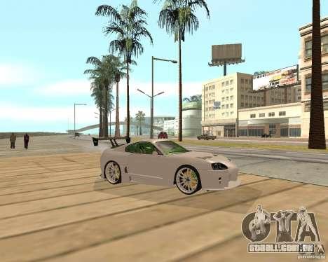 Toyota Supra TwinTurbo para GTA San Andreas vista direita