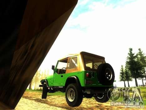 Jeep Wrangler Convertible para GTA San Andreas traseira esquerda vista