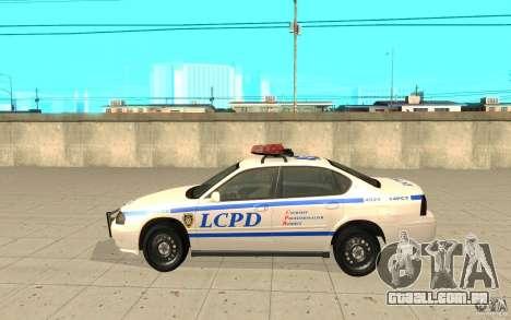 Patrulha da polícia de GTA 4 para GTA San Andreas esquerda vista
