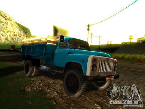 GAZ 53 para GTA San Andreas vista traseira
