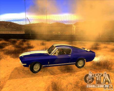 Shelby GT500 1967 para GTA San Andreas esquerda vista