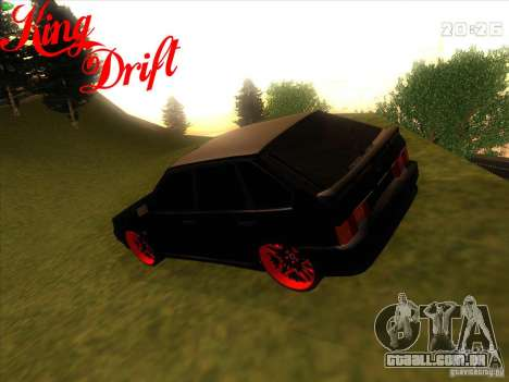 Ваз diabo 2114 estilo para GTA San Andreas esquerda vista