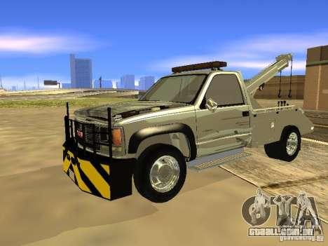 GMC Sierra Tow Truck para GTA San Andreas esquerda vista
