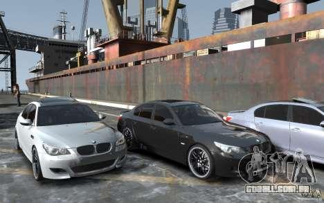 BMW M5 Hamman para GTA 4 vista de volta