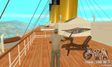 RMS Titanic para vista lateral GTA San Andreas