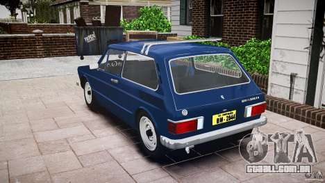 Volkswagen Brasilia para GTA 4 vista interior