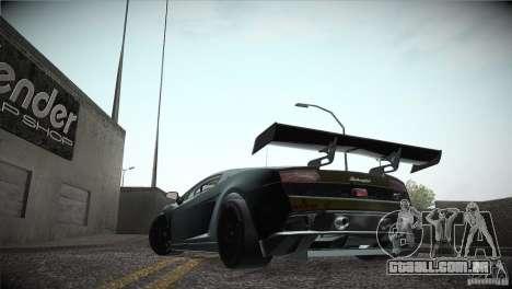 Lamborghini Gallardo LP560-4 GT3 para GTA San Andreas vista interior