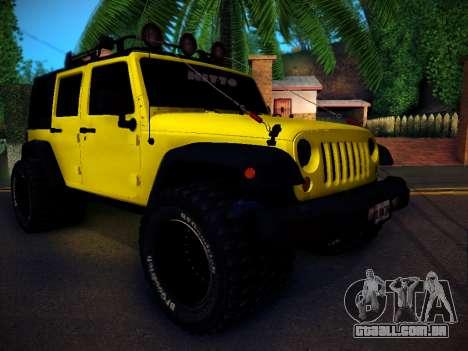 Jeep Wrangler 4x4 para GTA San Andreas