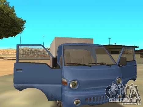 Hyundai Porter para GTA San Andreas vista traseira