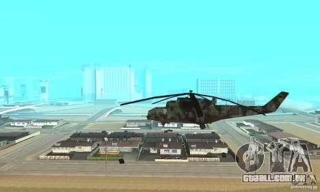 Black Ops Hind para GTA San Andreas esquerda vista