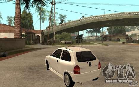 Opel Corsa GSI 16V para GTA San Andreas traseira esquerda vista