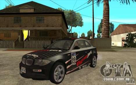 BMW 135i Coupe para GTA San Andreas esquerda vista