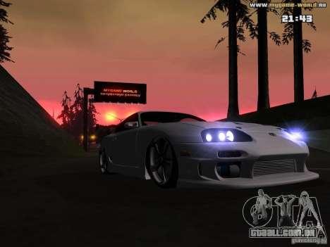 Toyota Supra v2 (MyGame Drift Team) para GTA San Andreas vista traseira
