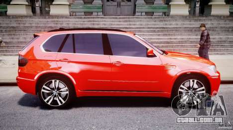 BMW X5M Chrome para GTA 4 esquerda vista