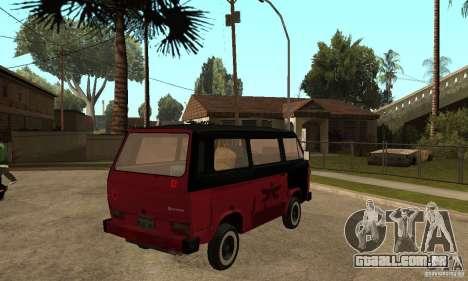Volkswagen T3 Rusty para GTA San Andreas vista direita