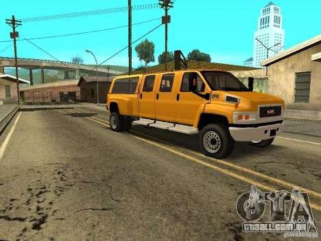 GMC TopKick para GTA San Andreas vista traseira