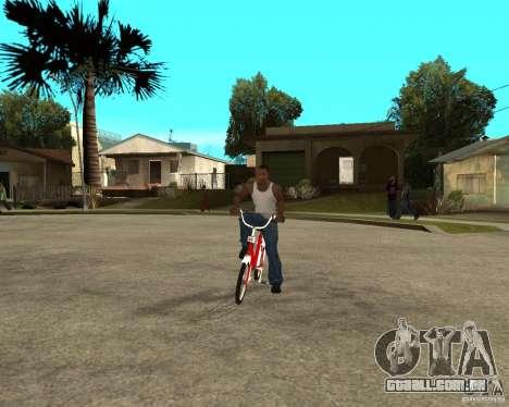 Tair GTA SA mota mota para GTA San Andreas vista traseira