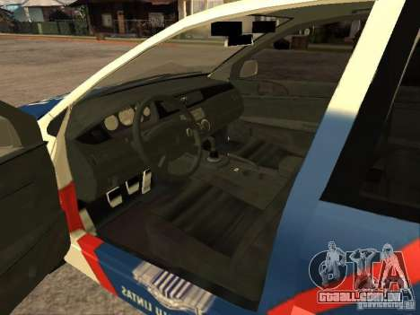 Mitsubishi Lancer Police Indonesia para GTA San Andreas traseira esquerda vista