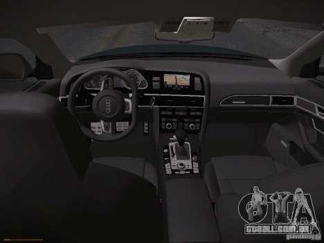 Audi RS6 2009 para GTA San Andreas vista direita