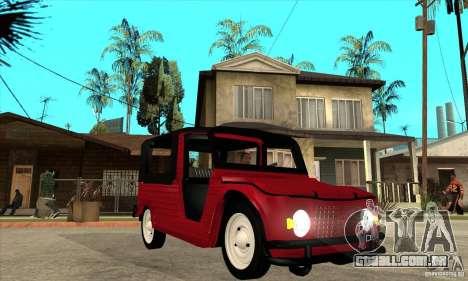Citroen Mehari para GTA San Andreas vista traseira