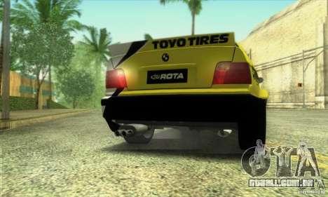 BMW E36 Urban Perfomance Garage para GTA San Andreas traseira esquerda vista