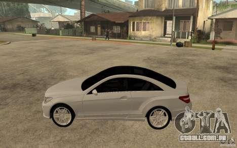 Mercedes Benz E-CLASS Coupe para GTA San Andreas esquerda vista