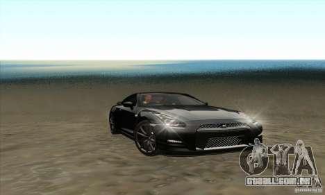Nissan GT-R R-35 2012 para GTA San Andreas vista interior