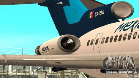 Boeing 727-200 Final Version para GTA San Andreas esquerda vista