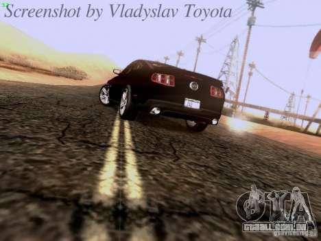 Ford Mustang GT 2011 Unmarked para GTA San Andreas traseira esquerda vista