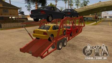 Caminhão semi-reboque para GTA San Andreas vista direita
