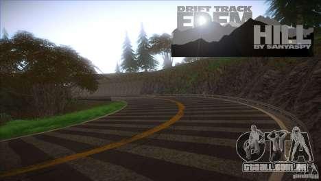 Edem Hill Drift Track para GTA San Andreas segunda tela