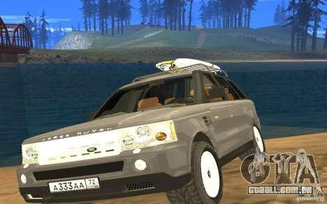 Land Rover Range Rover para GTA San Andreas vista traseira