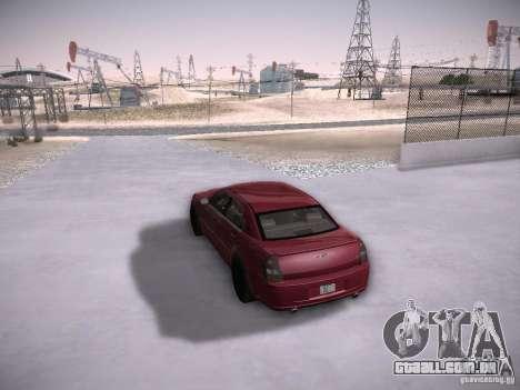 Chrysler 300C SRT8 para vista lateral GTA San Andreas
