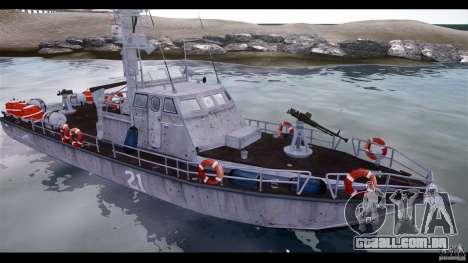 Russian PT Boat para GTA 4 traseira esquerda vista