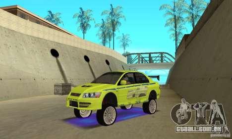 Luzes de néon azuis melhoradas para GTA San Andreas terceira tela