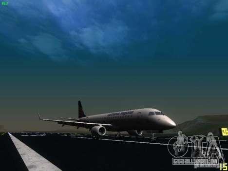 Embraer ERJ 190 Lufthansa Regional para GTA San Andreas traseira esquerda vista