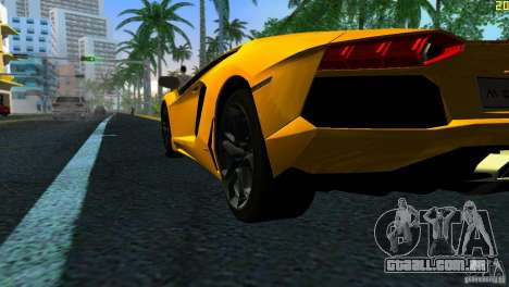 Lamborghini Aventador LP 700-4 para GTA Vice City vista direita