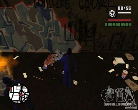 Vagabundos no beco para GTA San Andreas
