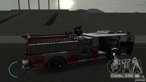 NEW Fire Truck para GTA 4 vista de volta