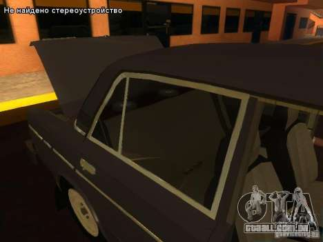 VAZ 2106 para vista lateral GTA San Andreas