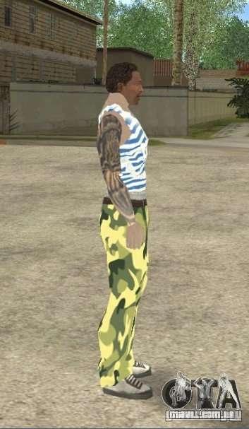 CJ VDV para GTA San Andreas terceira tela