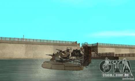 HL2 Airboat para GTA San Andreas traseira esquerda vista