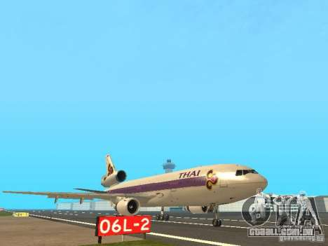 McDonell Douglas  DC 10 Thai Airways para GTA San Andreas esquerda vista